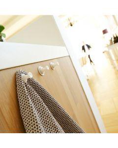 Magnetiska krokar til köket för diskdukar och galler och badrum.