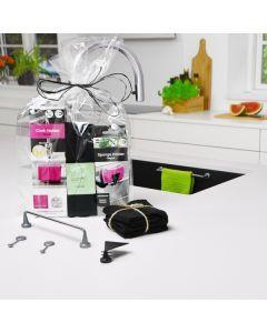 Presentset för Kök, Magnetisk Disktrasehållare stål m/ disktrasor & Disksvamphållare (fri omslagning)