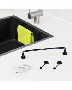 Magnet Karklud Holder Flexible, Sort -Specialvask (Corian & Granit)