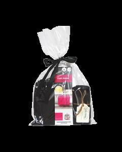 Indpakket gavesæt med vores magnetiske holder i stål, 3 karklude og 1 håndklæde fra Solwang Design.
