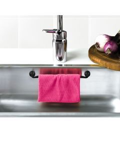 This smart magnetic dishcloth holder is easily installed in your sink with the strong magnets