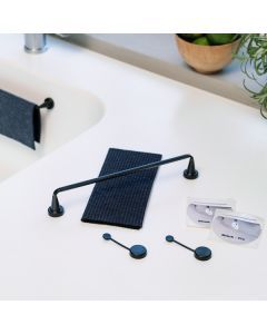 Dishcloth Holder Black Flex with cloth