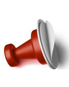 Magnet knager m/metal (3 stk)-rød