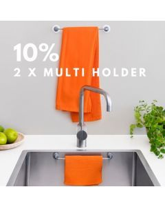 Multifunctional - 2 x Magnetic Cloth Holder for both sink & wall