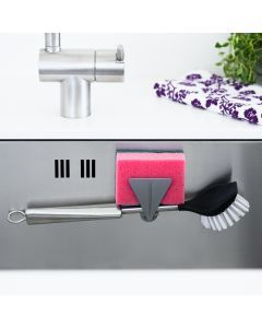 Magnetic Dish Brush & Sponge Holder