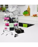 Kitchen Giftset / Cloth Holder steel, eco. dish cloths, Sponge Holder - FREE wrapping