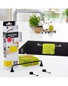 Disktrashållare flex + 3 st stickat ekologiska disktrasor